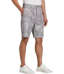 joseph abboud gray paisley modern fit shorts