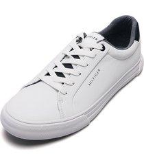 tenis blancos-azules tommy hilfiger