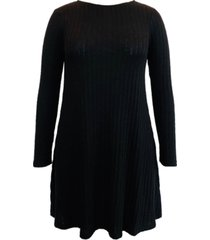 style & co hacci ribbed brushed swing dress, created for macy's