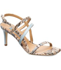 square string sandal sandal med klack multi/mönstrad apair