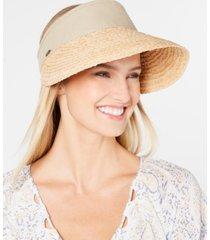scala raffia & cotton visor