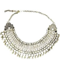 colar la madame co maxi colar prata - prata - feminino - dafiti