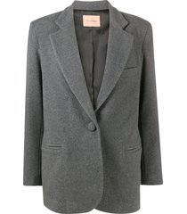 the andamane single breasted boyfriend blazer - grey