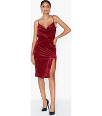 ivyrevel midi velvet dress fodralklänningar