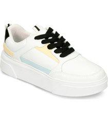 zapatos casuales blanco amarillo bata inie mujer