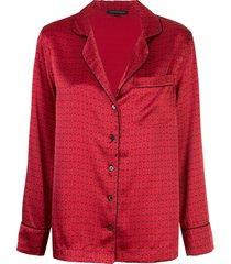 kiki de montparnasse hand cuff pattern pajama set - red