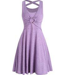 crisscross o ring heather sleeveless dress
