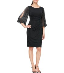 alex evenings beaded sheath dress, size 6 in black at nordstrom