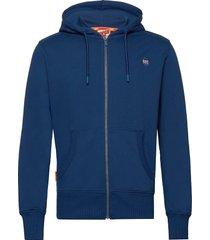 collective zip hood hoodie trui blauw superdry