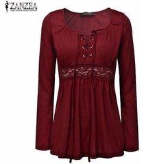 2017 autumn sexy blouses zanzea women v neck long sleeve