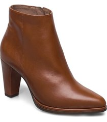 m-4407 shoes boots ankle boots ankle boot - heel brun wonders