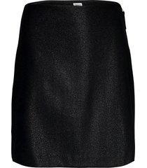 holly lurex skirt kort kjol svart filippa k