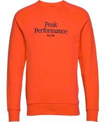 m orig c sweat-shirt trui oranje peak performance