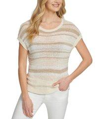 dkny striped open-knit sweater