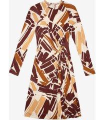 graphic print dress burgundy xl