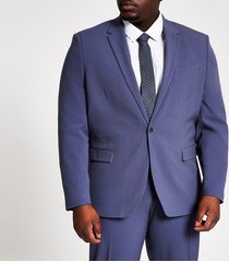 river island mens big and tall blue skinny fit suit jacket