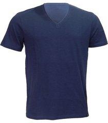 camiseta alma de praia gola v flame azul -gg