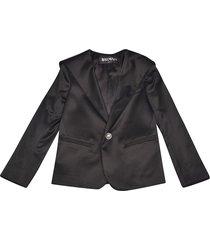 balmain single breasted blazer