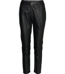 24 the leather pant leather leggings/broek zwart denim hunter
