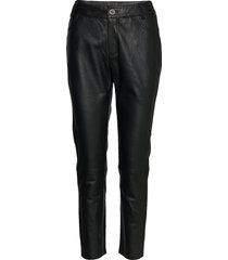 24 the leather pant leather leggings/broek zwart denim hunter