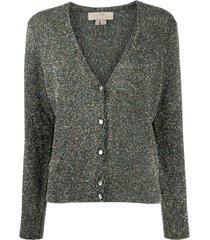 a.p.c. metallic knit cardigan - green