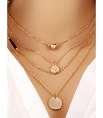 love gold coins multi-layer necklace