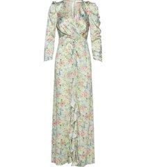 odeon drape silk dress p maxiklänning festklänning multi/mönstrad notes du nord