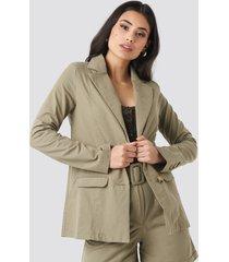 trendyol yol pocket detailed jacket - green