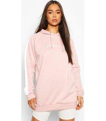 oversized hoodiemet print voor dames, roze
