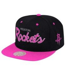 mitchell & ness houston rockets sweetheart script snapback cap