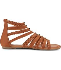 olivia miller btw braided strap sandals women's shoes