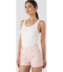 trendyol striped denim shorts - pink