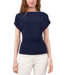 msk solid ruched-waist top