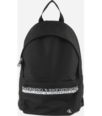 calvin klein jeans round backpack with contrasting logo