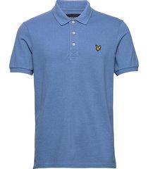 polo shirt polos short-sleeved blå lyle & scott