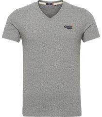 ol classic vee tee ns t-shirts short-sleeved grå superdry