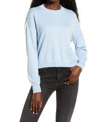 women's bp. easy drop shoulder sweater, size medium - blue