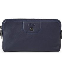 longchamp women's le pliage cuir pouch - navy