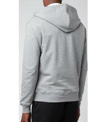ami men's de coeur zipped hoodie - heather grey - xxl