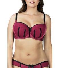 women's parfait underwire molded t-shirt bra, size 36jj - red