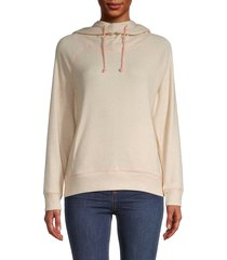 525 america women's raglan-sleeve hoodie - beige - size xs