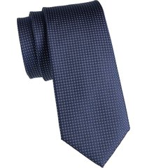 canali men's dot-print silk tie - black