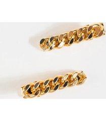 emma metal chain hair clips - gold