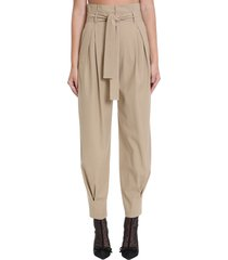 red valentino pants in beige cotton