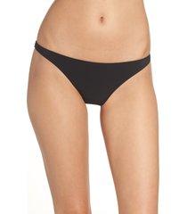 women's tory burch hipster bikini bottoms, size large - black