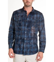 original paperbacks montana crystal wash tie dye flannel shirt