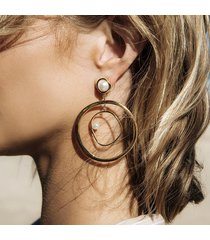 orecchini pendenti alla moda orecchini geometrici alla moda orecchini rotondi a forma di oro orecchini donna