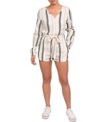 hurley cotton gauze naturals striped romper