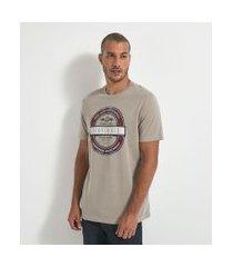 camiseta com estampa   marfinno   marrom   p