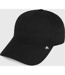 gorra negro adidas performance essentials 3 rayas